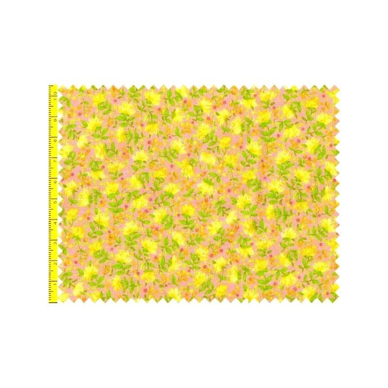 Tissu patchwork fleuris fond rose 15581 tissu pas cher - Tissu patchwork pas cher ...