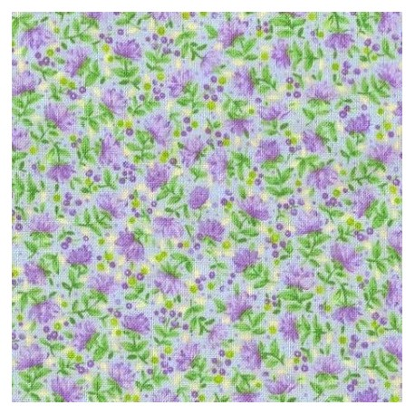 Tissu patchwork fleuris fond bleu ciel 15582 tissu pas cher - Tissu patchwork pas cher ...