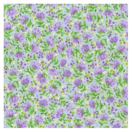 Tissu patchwork fleuris fond bleu ciel 15582 tissu pas cher - Lot tissus patchwork pas cher ...