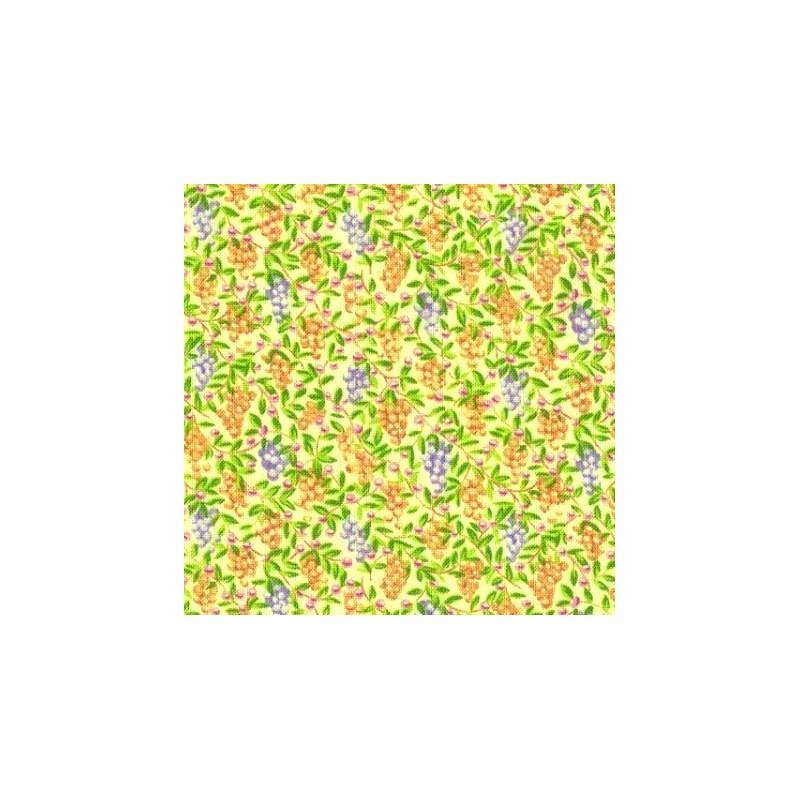 Tissu patchwork fruits fond jaune vert 15586 tissu pas cher - Tissu patchwork pas cher ...