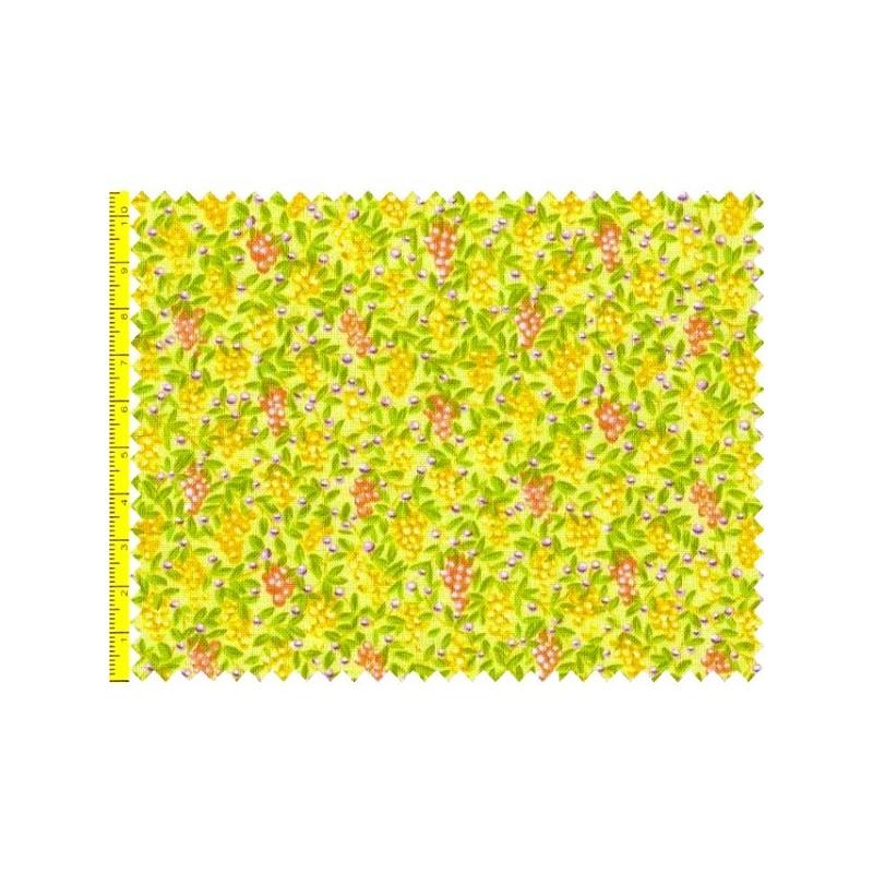 Tissu patchwork fruits fond jaune vert 15587 tissu pas cher - Tissu patchwork pas cher ...
