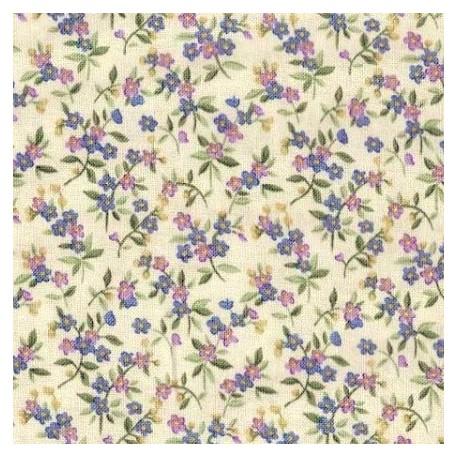 Tissu patchwork fleuris fond parme 15608 tissu pas cher - Tissu patchwork pas cher ...