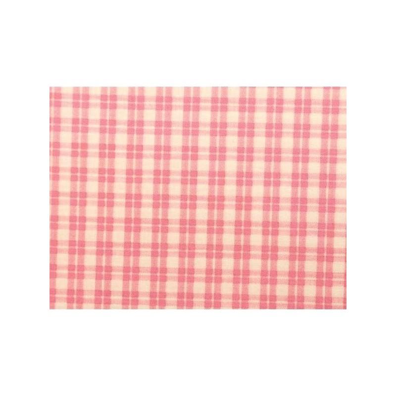 tissu patchwork carreaux rose et blanc 13695. Black Bedroom Furniture Sets. Home Design Ideas