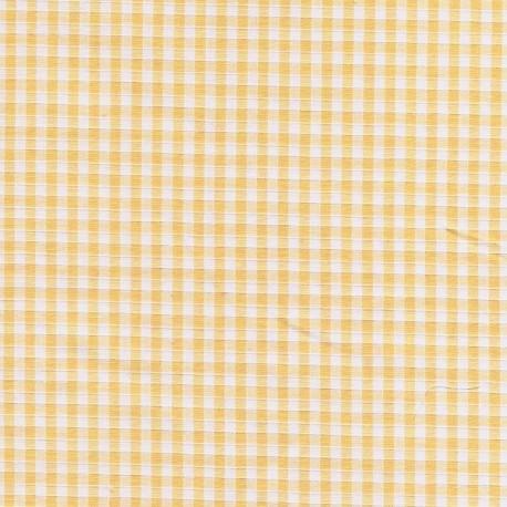 tissu coton polyester carreaux orange et blanc. Black Bedroom Furniture Sets. Home Design Ideas