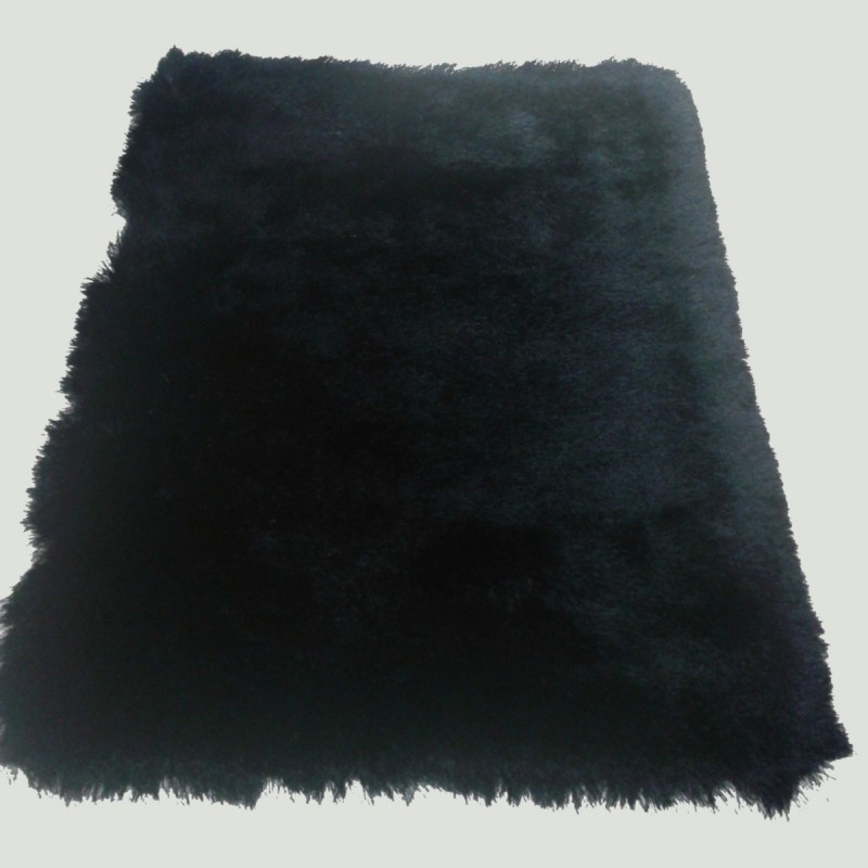 tapis shaggy noir longues m ches. Black Bedroom Furniture Sets. Home Design Ideas