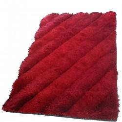 Tapis velours rouge clair, rouge foncé