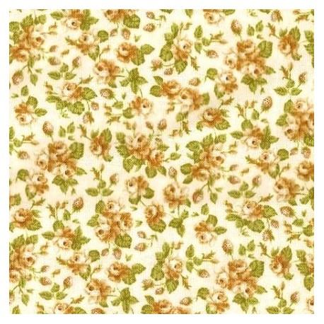 Tissu patchwork fleuris fond clair - 15590