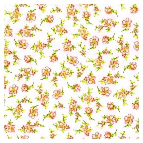 Tissu patchwork fleuris fond clair - 15622