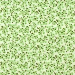Tissu patchwork fleuris vert - 13664