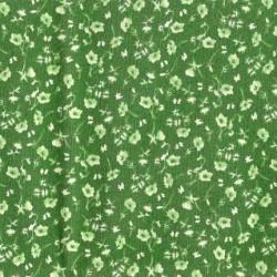 Tissu patchwork fleuris vert - 13673