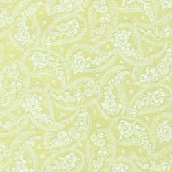 Tissu patchwork grands motifs paisley blancs sur fond écru-1349