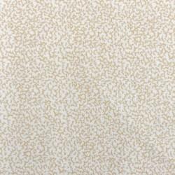 Tissu patchwork motifs coraux beiges sur fond blanc-18645
