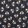 jap-13 : fond bleu et motifs papillons beiges