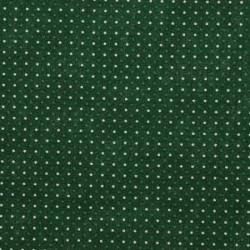 13692-pois blancs et verts sur fond vert foncé