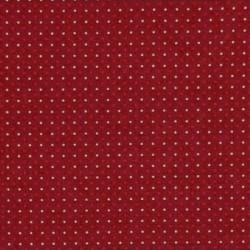 13694-pois blancs et rouges sur fond rouge