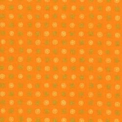 Asian Garden orange avec petits motifs