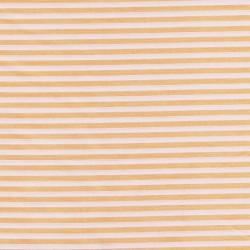 Tissu coton polyester à rayures orange et blanc