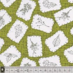 Winter Song, étiquettes sur fond vert