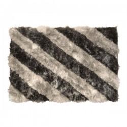 Tapis velours gris clair, gris foncé