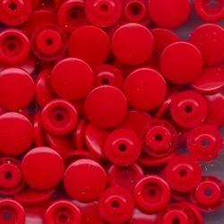 Pressions plastiques ronds rouge T5 12.4mm pour pince KAM