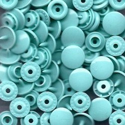 Pressions plastiques ronds bleu ciel T5 12.4mm pour pince KAM