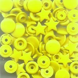 Pressions plastiques étoiles jauneT5 12.4mm pour pince KAM