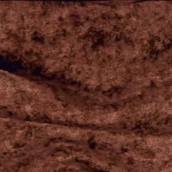 Velours moiré stretch marron chocolat