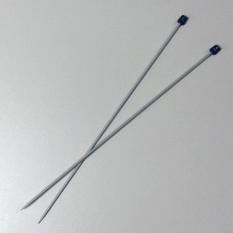 Aiguilles à tricoter - 40cm - métal - n°4