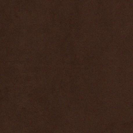 Tissu suédine 100% polyester chocolat