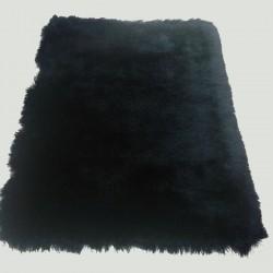 Tapis shaggy noir longues mèches
