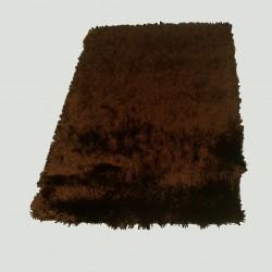 Tapis shaggy marron longues mèches