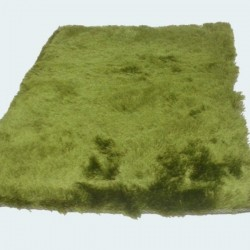Tapis shaggy vert longues mèches