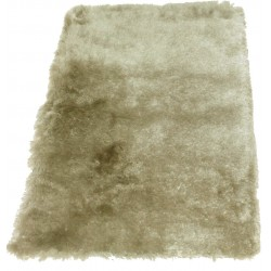 Tapis shaggy taupe clair longues mèches