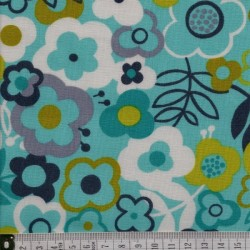 Lime twist large floral