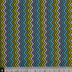 Lime twist chevron stripe
