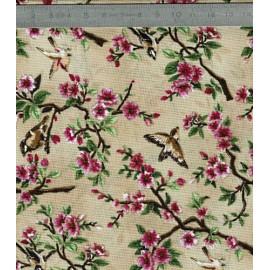 tissu oiseau et fleurs japonais