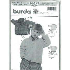 Patron couture burda 2923 - sweat bébé enfant