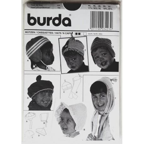 burda 3423 - bonnets pour bébé