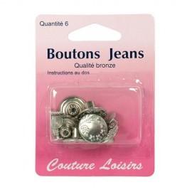 Boutons jeans sans coudre