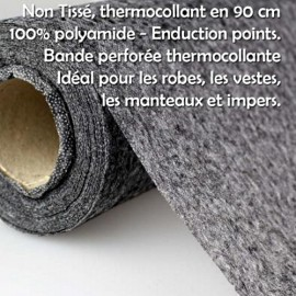 Thermocollant fin non tissé noit en 90cm